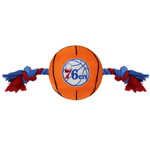76R-3105 - Philadelphia 76ers - Nylon Basketball Rope Toy