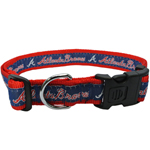 BRV-3036-XL - Atlanta Braves Extra Large Dog Collar