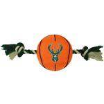BUK-3105 - Milwaukee Bucks - Nylon Basketball Rope Toy