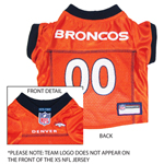 DEN-4006 - Denver Broncos - Pet Jersey
