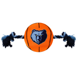 GRZ-3105 - Memphis Grizzlies - Nylon Basketball Rope Toy
