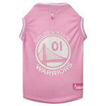 GSW-4048 - Golden State Warriors - Pink Mesh Jersey