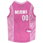 HEA-4019 - Miami Heat - Pink Cotton/Mesh Jersey