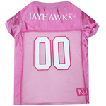 KU-4019 - University of Kansas - Pink Mesh Football Jersey