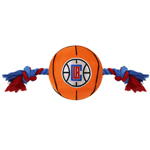 LAC-3105 - Los Angeles Clippers - Nylon Basketball Rope Toy