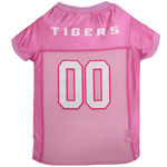 LSU-4019 - LSU Tigers - Pink Football Mesh Jersey