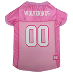 MI-4019 - Michigan Wolverines - Pink Football Mesh Jersey