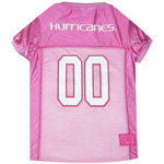MIA-4019 - Miami Hurricanes - Pink Football Mesh Jersey