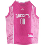 RKT-4019 - Houston Rockets - Pink Cotton/Mesh Jersey