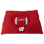WI-3188 - Wisconsin Badgers -Pet Pillow Bed
