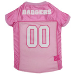 WI-4019 - Wisconsin Badgers - Pink Mesh Jersey