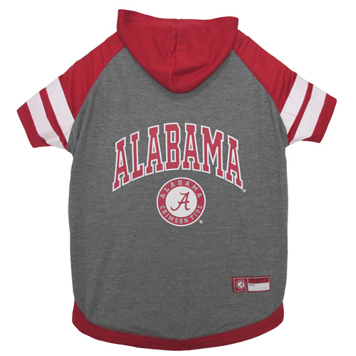 Collegiate Alabama Crimson Tide Hoodie Tee Shirt - Extra Small
