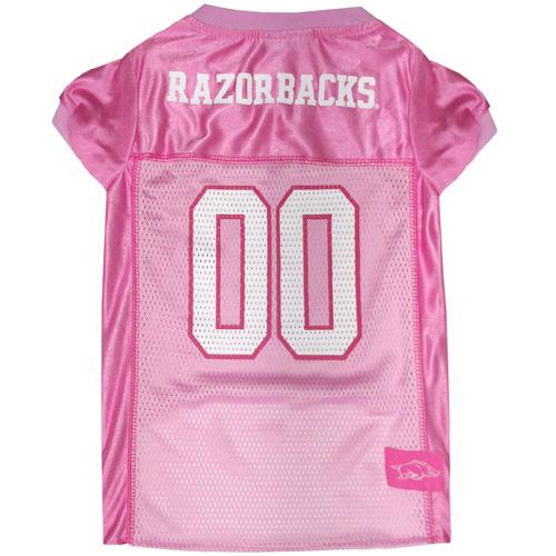 Collegiate Arkansas Razorbacks Pink Jersey - Extra Small