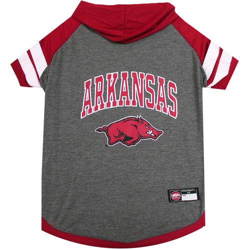 Collegiate Arkansas Razorbacks Hoodie Tee Shirt - Extra Small