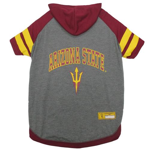 Collegiate Arizona State Sun Devils Hoodie Tee Shirt - Extra Small