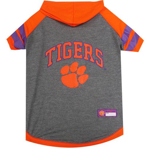 Collegiate Clemson Hoodie Tee Shirt - Extra Small