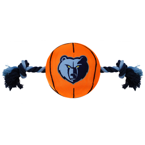 Memphis Grizzlies - Nylon Basketball Rope Toy