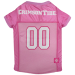 Doggie Nation Collegiate Alabama Crimson Tide Pink Jersey - Medium