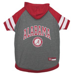 Doggie Nation Collegiate Alabama Crimson Tide Hoodie Tee Shirt - Large