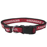 Doggie Nation Collegiate Arkansas Razorbacks Collar - Large