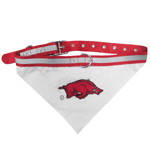 Doggie Nation Collegiate Arkansas Razorbacks Collar Bandana - Large
