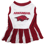 Doggie Nation Collegiate Arkansas Razorbacks Cheerleader - Extra Small