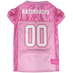 Doggie Nation Collegiate Arkansas Razorbacks Pink Jersey - Medium