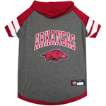 Doggie Nation Collegiate Arkansas Razorbacks Hoodie Tee Shirt - Extra Small