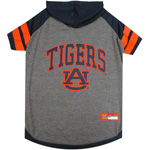 Doggie Nation Collegiate Auburn Tigers Hoodie Tee Shirt - Large