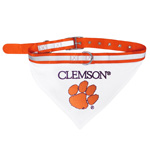 Doggie Nation Collegiate Clemson Tigers Collar Bandana - Large