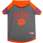 Doggie Nation Collegiate Clemson Hoodie Tee Shirt - Extra Small