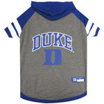 Doggie Nation Collegiate Duke Blue Devils Hoodie Tee Shirt - Large