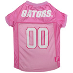 Doggie Nation Collegiate Florida Gators Pink Jersey - Large