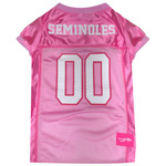 Doggie Nation Collegiate Florida State Seminoles Pink Jersey - Small