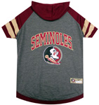 Doggie Nation Collegiate Florida State Seminoles  Hoodie Tee Shirt - Extra Small