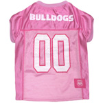 Doggie Nation Collegiate Georgia Bulldogs Pink Jersey - Extra Small