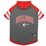 Doggie Nation Collegiate Geogia Bulldogs Hoodie Tee Shirt - Large