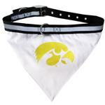 Doggie Nation Collegiate University of Iowa Hawkeyes Collar Bandana - Large