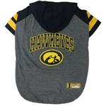 Doggie Nation Collegiate Iowa Hawkeyes Hoodie Tee Shirt - Large