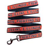 Doggie Nation Collegiate Illinois Fighting Illini Leash - Large