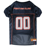 Doggie Nation Collegiate Illinois Fighting Illini Mesh Jersey - Extra Small