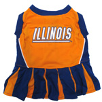 Doggie Nation Collegiate Illinois Fighting Illini Cheerleader - Small