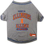 Doggie Nation Collegiate Illinois Fighting Illini Tee Shirt - Large