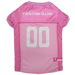 Doggie Nation Collegiate Illinois Fighting Illini Pink Jersey - Medium