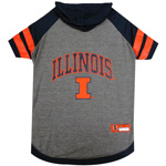 Doggie Nation Collegiate Illinois Fighting Illini Hoodie Tee Shirt - Small