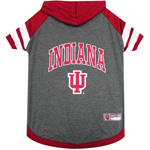 Doggie Nation Collegiate Indiana Hoosiers Hoodie Tee Shirt - Large
