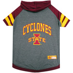 Doggie Nation Collegiate Iowa State Cyclones Hoodie Tee Shirt - Large