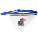 Doggie Nation Collegiate University of Kansas Jayhawks Collar Bandana - Large