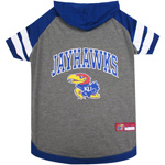 Doggie Nation Collegiate Kansas Jayhawks Hoodie Tee - Extra Small