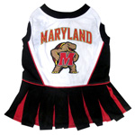 Doggie Nation Collegiate Maryland Terrapins Cheerleader - Extra Small